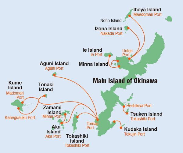 Ferry Route for Okinawa - Kerama Islands | Go To There | Pinterest ...