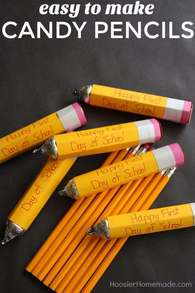 Diy school supplies easy to make candy pencils easy crafts and diy school supplies easy to make candy pencils easy crafts and do it yourself ideas for back to school pencils notebooks backpacks and fun solutioingenieria Choice Image