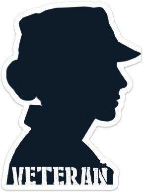Veteran Silhouette Stickers Female Soldier Soldier Silhouette Female Marines