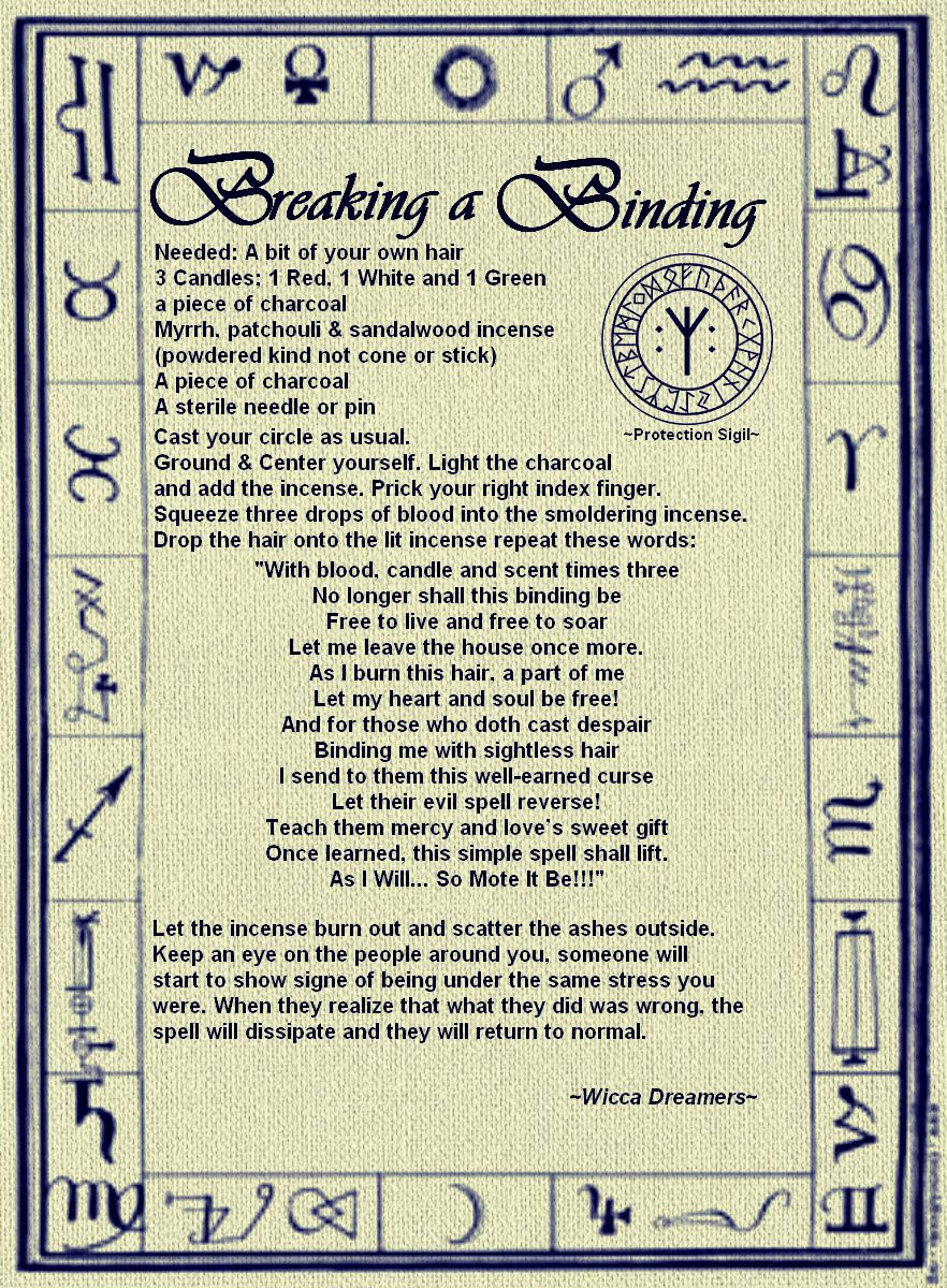 Breaking a Binding Spell   Spells    Wicca, Witchcraft