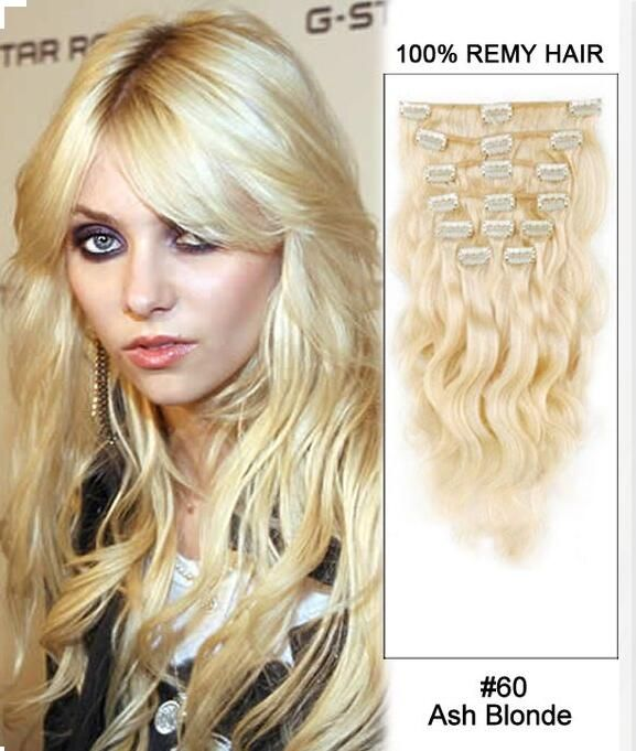 Wet And Wavy Human Hair Brazilian Virgin Clip In Human Hair