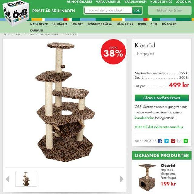 Bra Jag införskaffade en #Katt #KattTräd #KlösTräd #Cat #Furniture NI-49