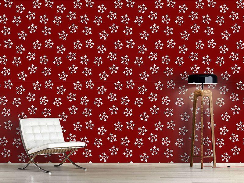 Design #Tapete Stempel Schneeflocken | Designtapeten Weihnachten ...