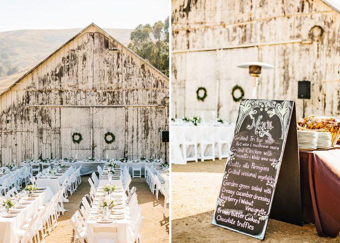 Table Setting At Cayucos Creek Barn Wedding Inspiration Pinterest Weddings And