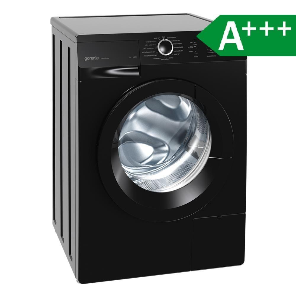 Gorenje W 7243 PB schwarz, EEK A+++, Waschmaschine, 7 kg, A+++