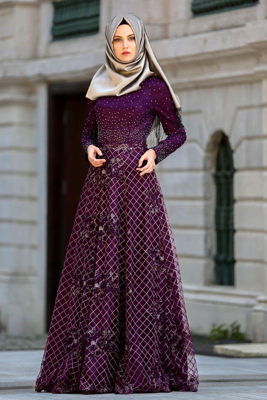 Desain Menarik dan Mewah Model Gaun Pesta Muslimah Elegan Baju