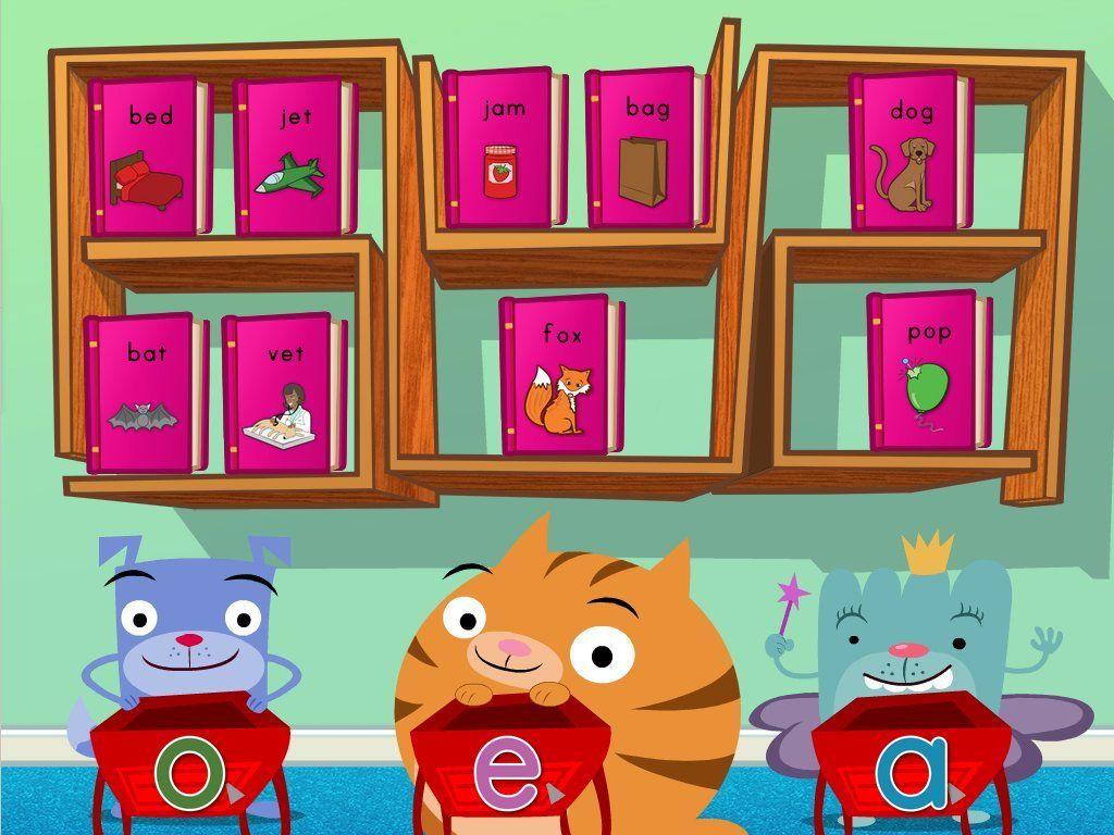 Short Vowel Sort Reading Game Free online preschool