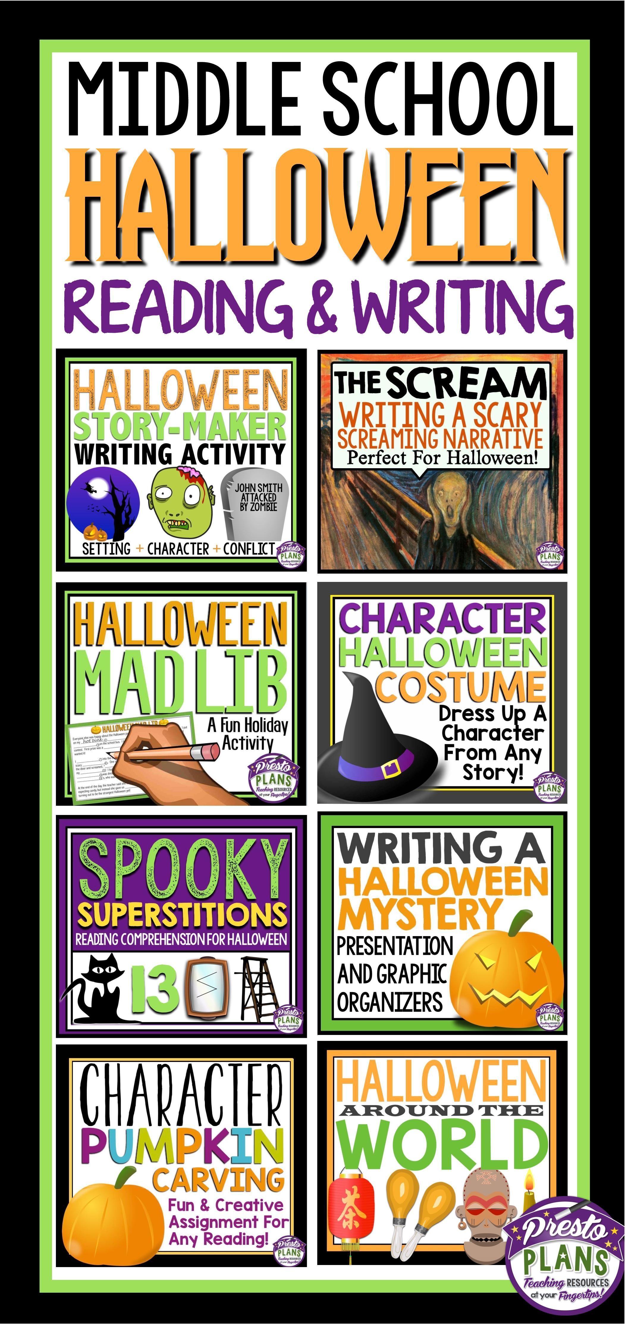 Halloween Reading And Writing Activities Amp Assignments