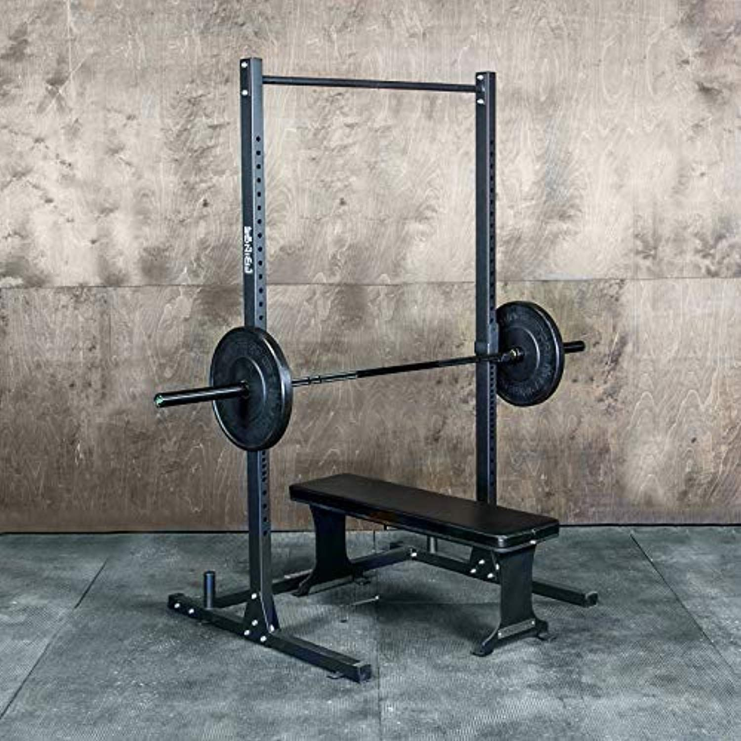 Squat Rack With Pullup Bar 4 X 4 Footprint 450lb Weight Capacity Weightlifting Equipment For Squat Bench Pullups Exerc Pull Up Bar Squat Rack Pull Ups
