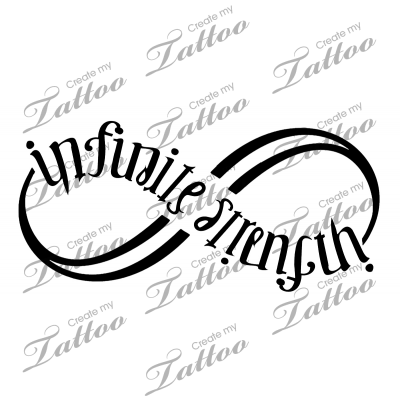 Marketplace Tattoo Infinitestrength Ambigram Infinity Symbol 12314