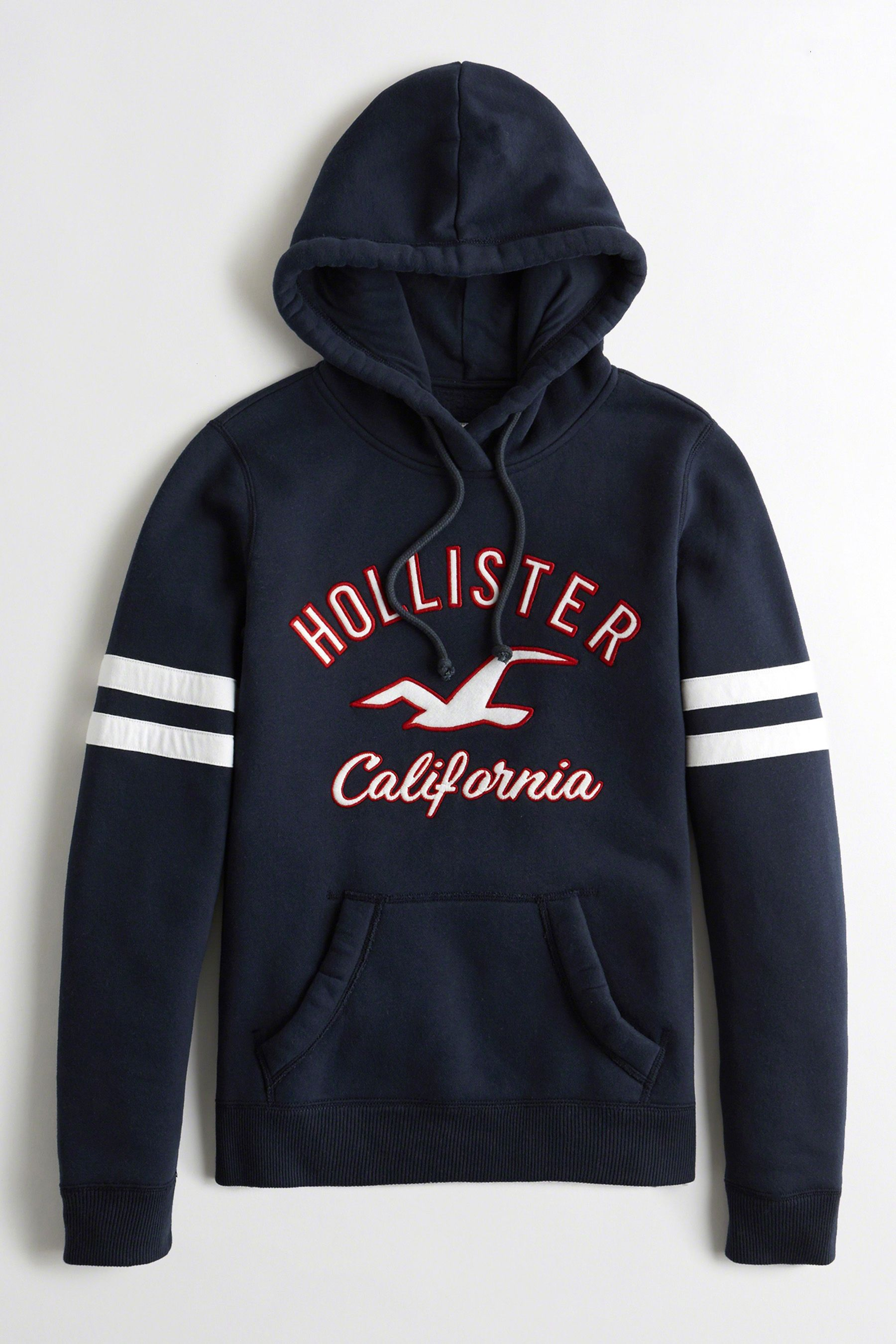 62927df1fb09 Womens Hollister Navy Tiger Logo Hoody - Blue