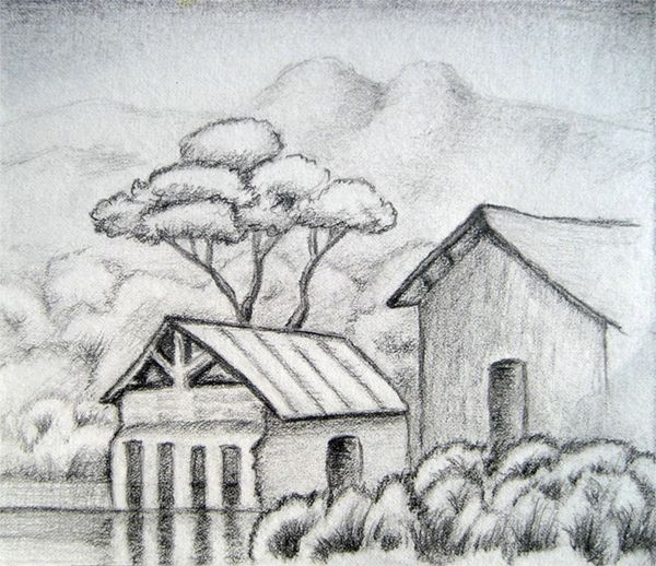 beginner sketches - Google Search   Landscape drawings ...