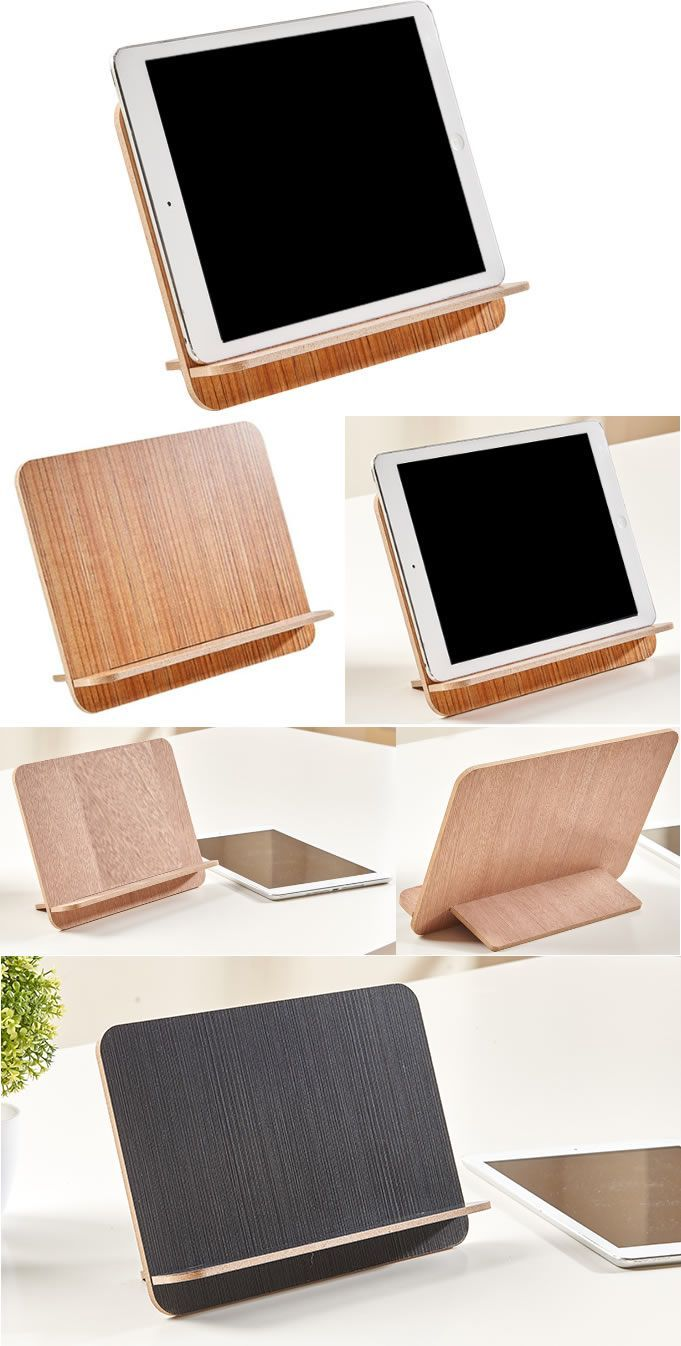 Wooden iPhone iPad SmartPhone Holder Stand Mount Business Card ...