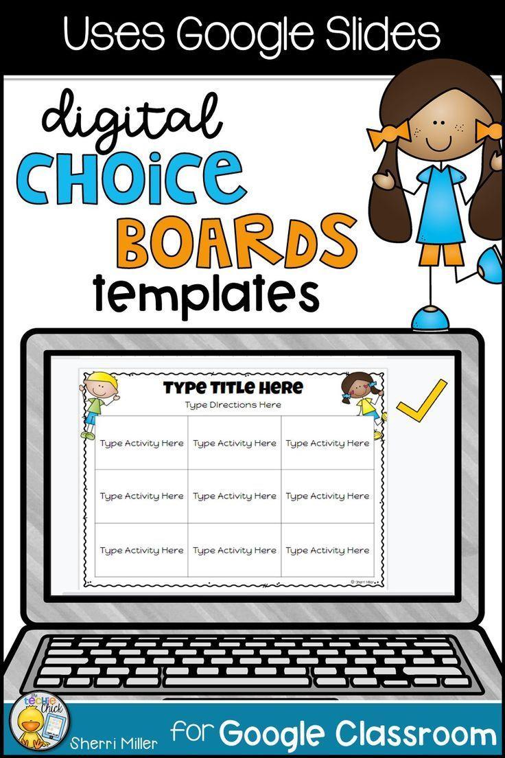 Distance Learning Digital Editable Choice Boards FREEBIE