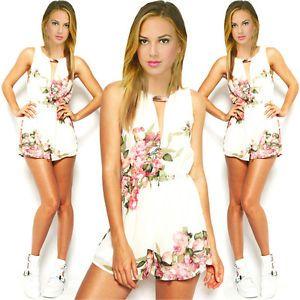 hot sale online 1167c 2390d Damen-Sommer-Chiffon-Jumpsuit-Overall-Einteiler-rueckenfrei ...