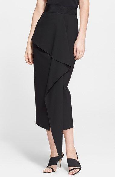 12fc8d17276078 Milly 'Cascade' Midi Skirt   Dress Me down   Midi skirt, Skirts ...
