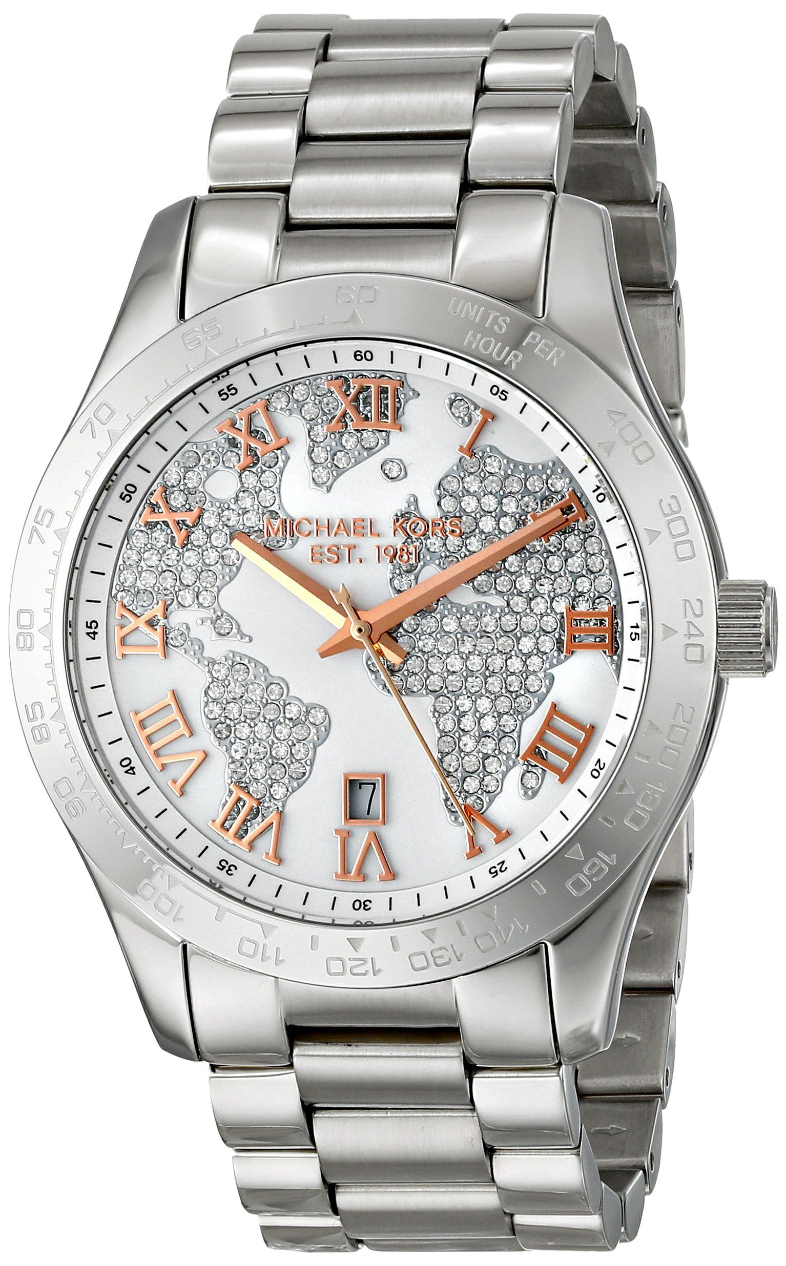 d44a11457794 Michael Kors Layton Silver Crystal Pave Dial Stainless Streel Ladies Watch  MK5958 --- This is my absolute dream watch right now.