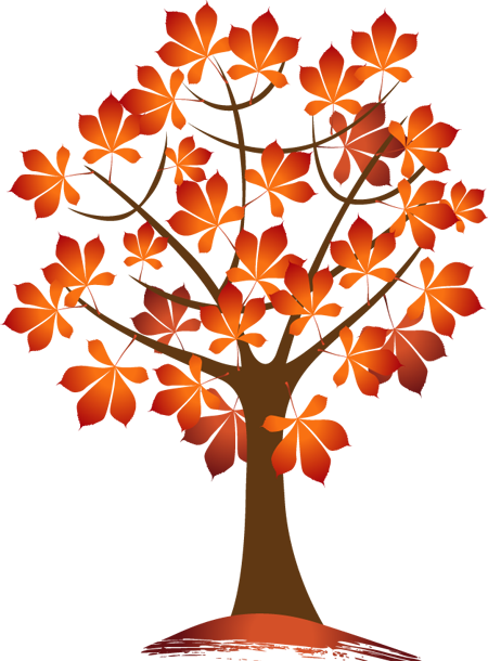 Autumn Trees And Leaves Autumn Trees Fall Clip Art Clip Art