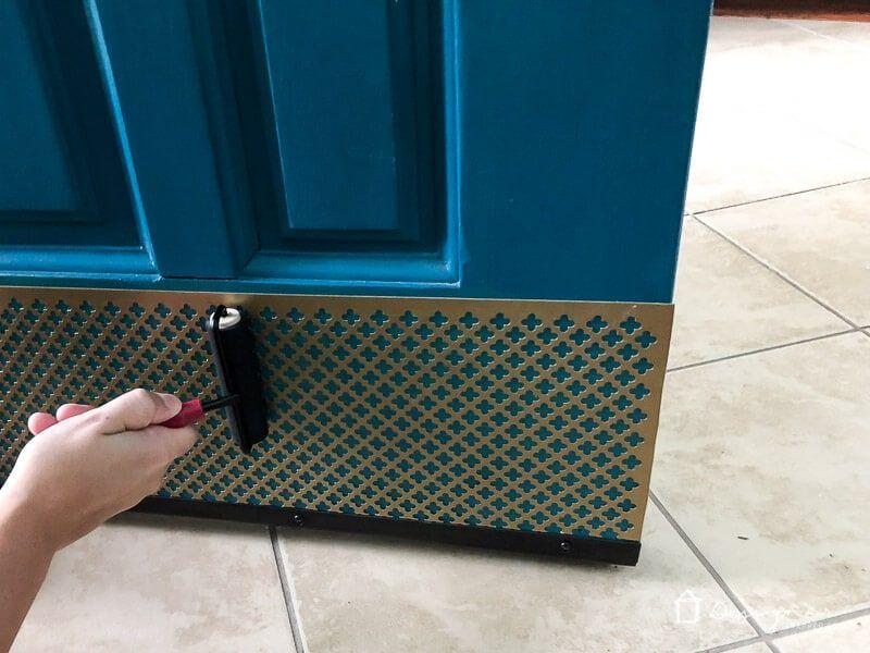 Easy Diy Kick Plate Kick Plate Door Kick Plates Diy Door