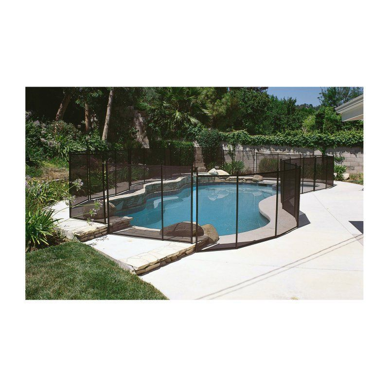 blue wave gli 12 ft safety fence for in ground pools on modern fence ideas highlighting your house with most shared privacy fence designs id=99467