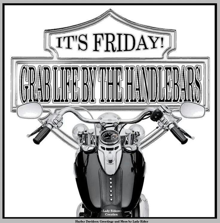 Lets Ride Quotes: It's Friday! Grab Life By The Handlebars! ... Let's Ride