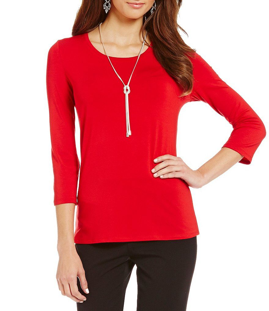4e1b6660c6cf56 Shop for Investments Petite Essentials 3 4 Sleeve Top at Dillards.com.  Visit Dillards.com to find clothing