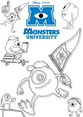 coloring Page Monsters Inc Party Decorations Free Printable