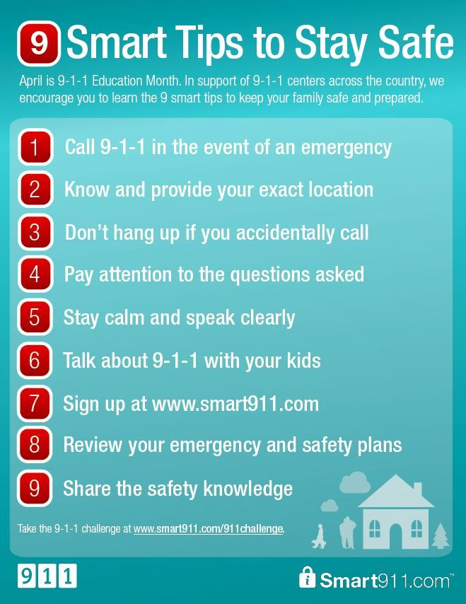 Itu0027s 9-1-1 Education Month! Download these 9 smart tips to stay - safety plans
