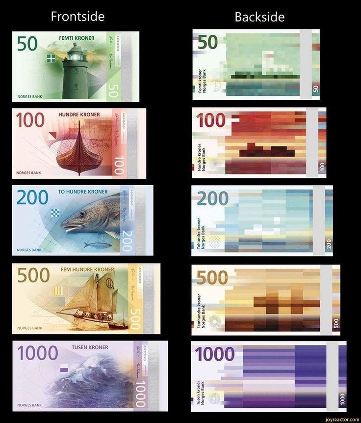 Kein Witz So Sieht Ab 2017 Norwegisches Geld Aus Geld Norwegisch Grafik Design