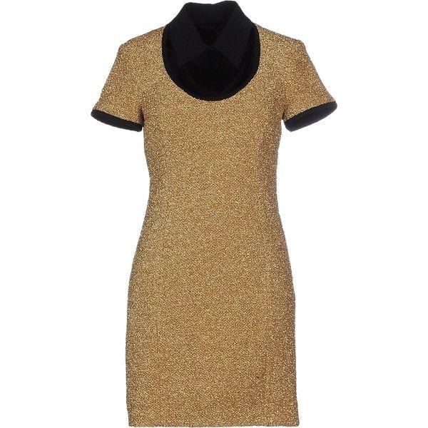 Moschino Cheapandchic Short Dress Gold