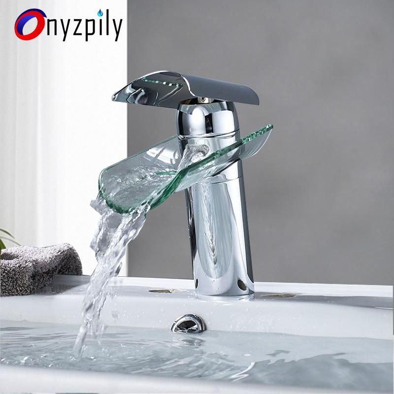 Bathroom Basin Faucet Waterfall Tap Hot Cold In 2020 Bathroom Basin Basin Faucet