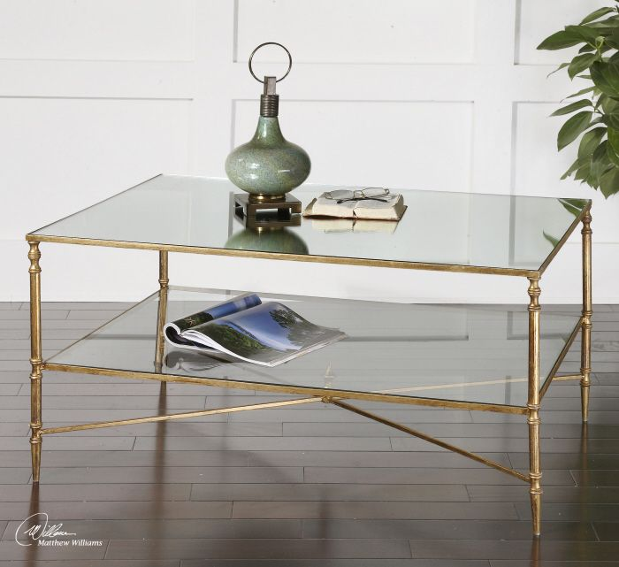 Fontaine Coffee Table in Gold