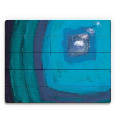 Click Wall Art 'Attraverso Black hole Abstract' Painting Print on Wood Size: 20″ H x 24″ W x 1″ D