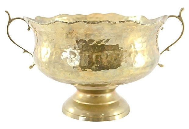 Hammered Brass Bowl on OneKingsLane.com