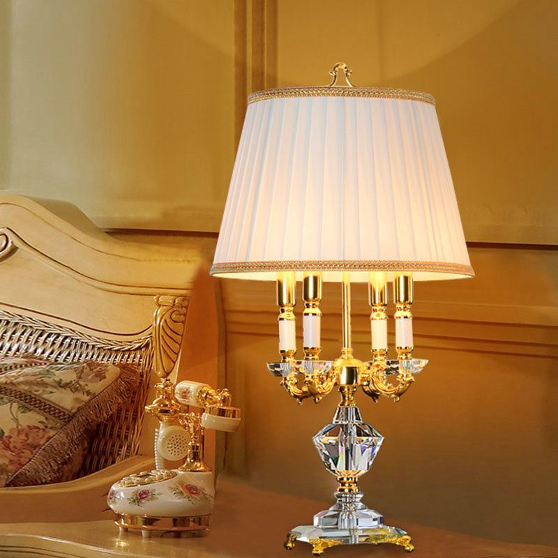 Contemporary Simple Table Lamp Elegant Iron Crystal Table Lamp 4