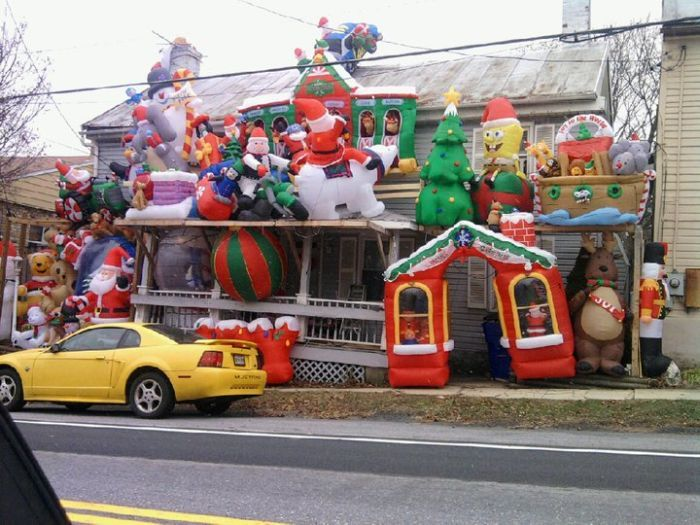 Ugly christmas decorations houses House decor