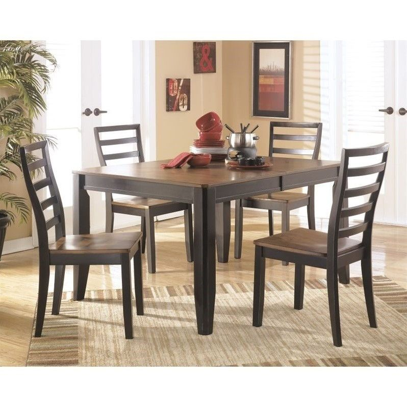 Lowest Price Online On All Ashley Alonzo 5 Piece Wood Dining Set Inspiration Dining Room Sets Online Inspiration Design