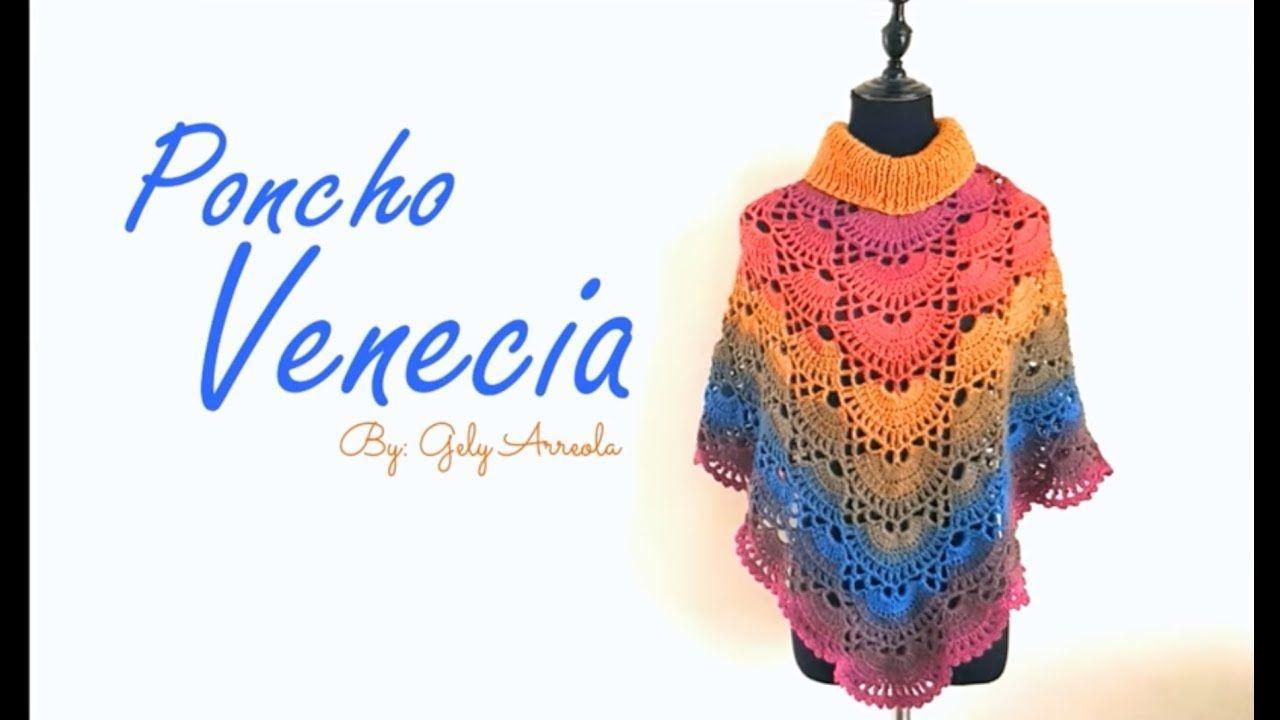 PONCHO VENECIA | crochet poncho | Pinterest | Venecia, Ponchos y Chal