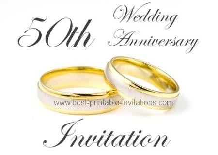 50th Anniversary Invitations Golden Wedding Invites 50th