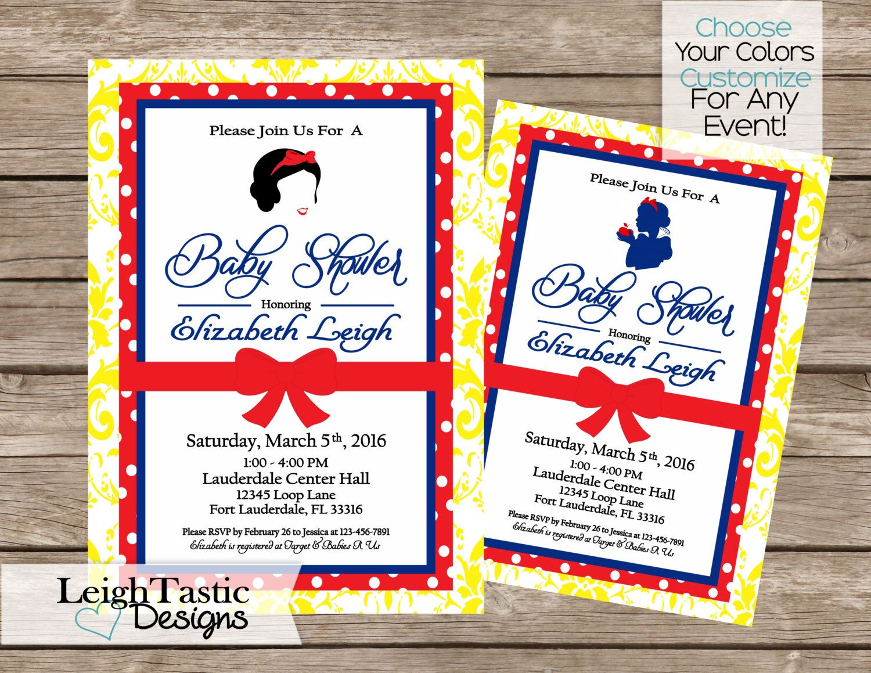 snow white invitation disney princess
