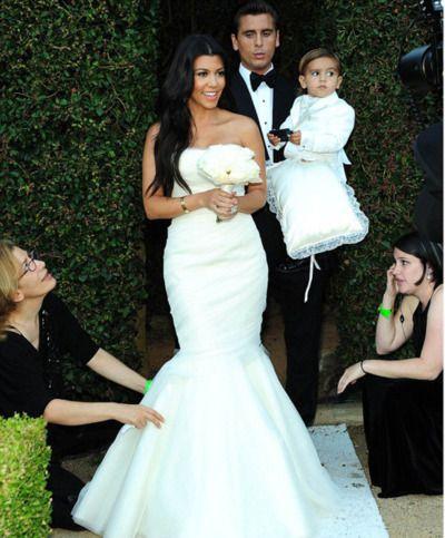 3ad64a8f42 8/20/2011: Kourtney Kardashian (bridesmaid), Scott Disick, & Mason Disick  (ring bearer) at the wedding of Kris Humphries & Kim Kardashian