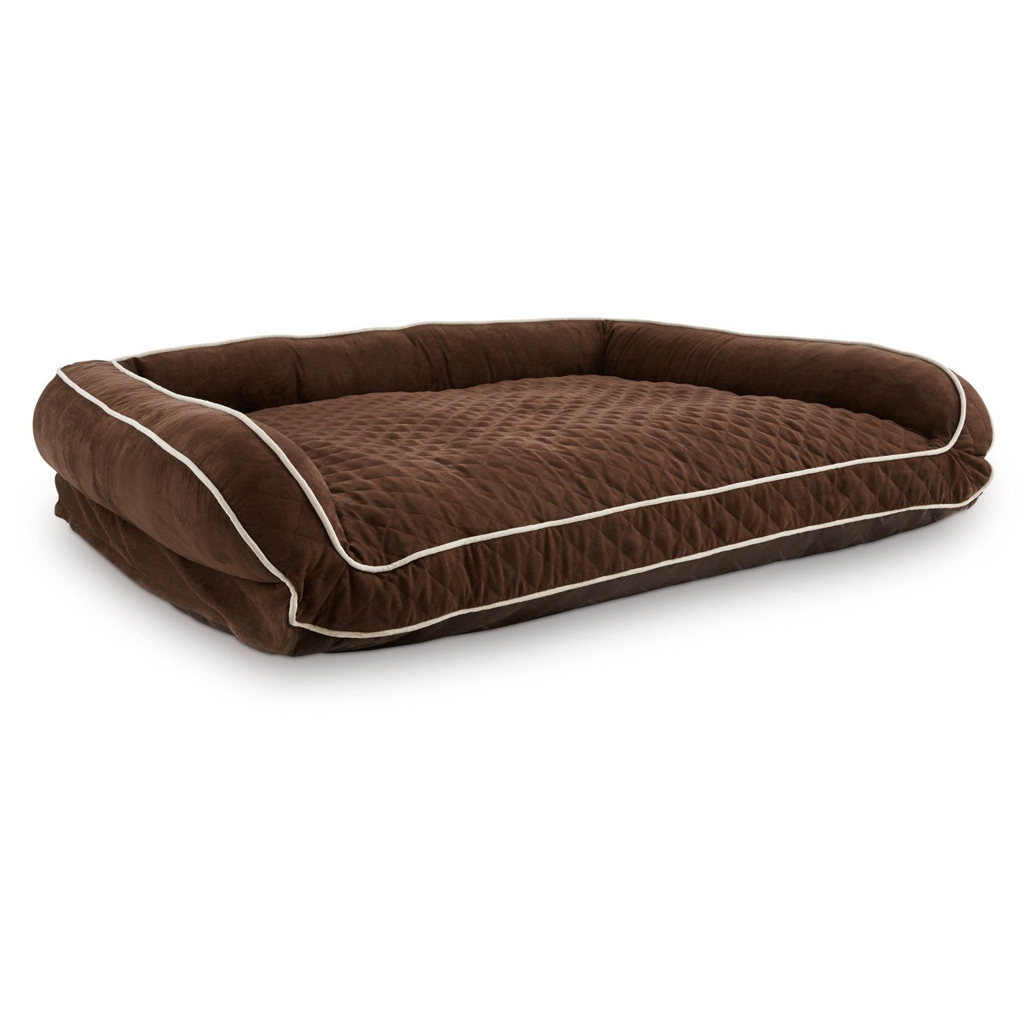 Memory Foam Brown Couch Dog Bed 48 L X 36 W Dog Couch Dog