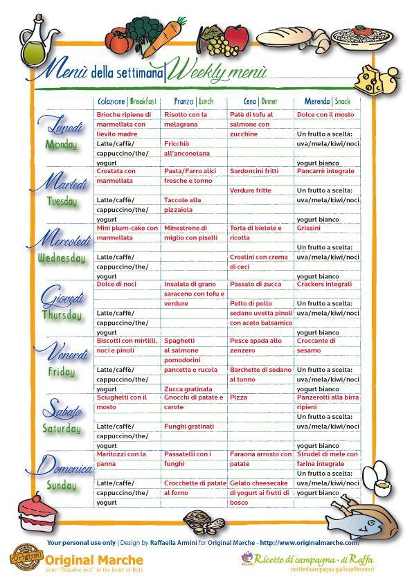 paleo menu settimanale dieta pdf