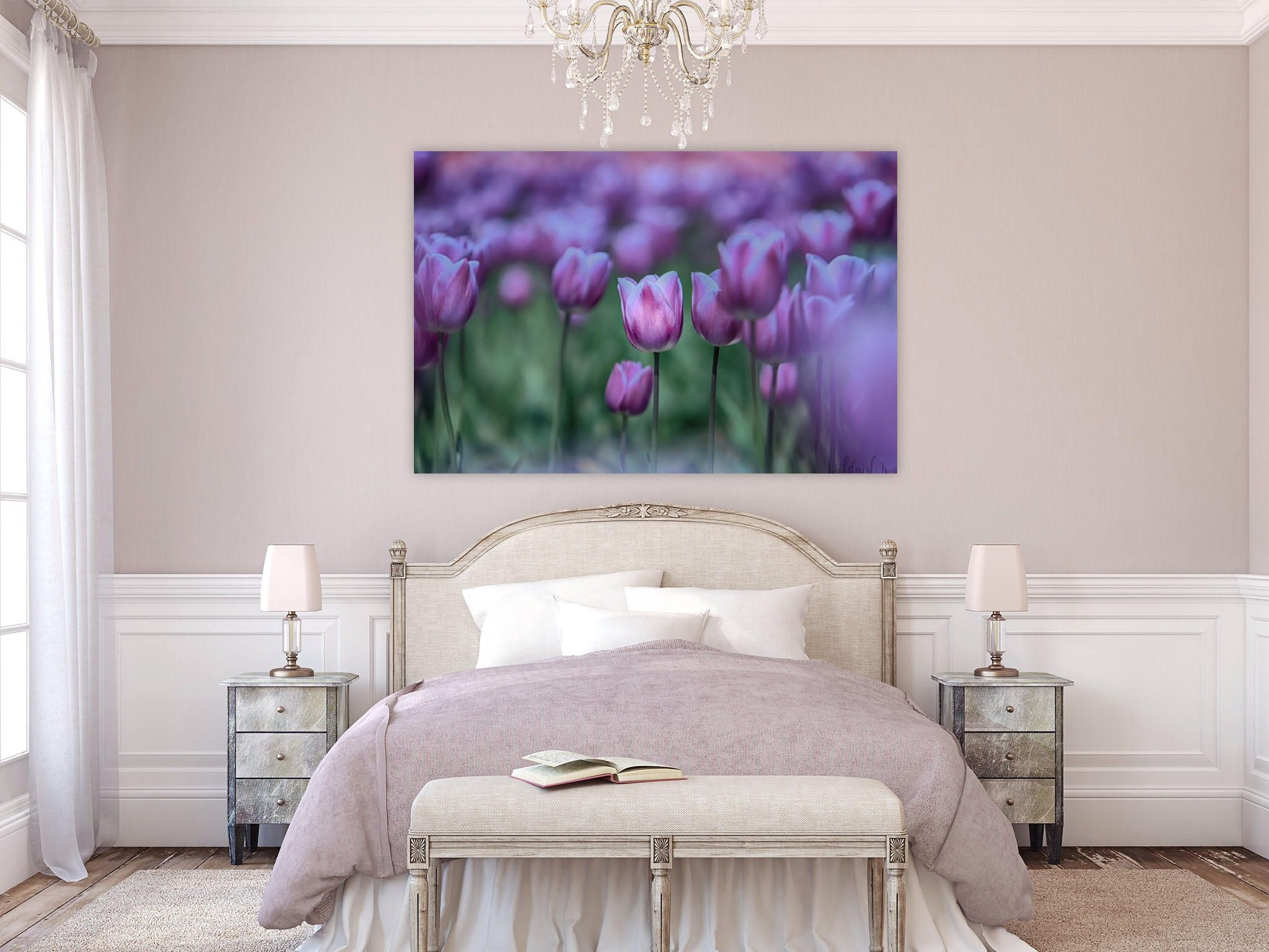commercial art photography large wall art hotel dcor medical dcor office dcor commercial prints home dcor tulips purple flower - Violet Hotel Decor