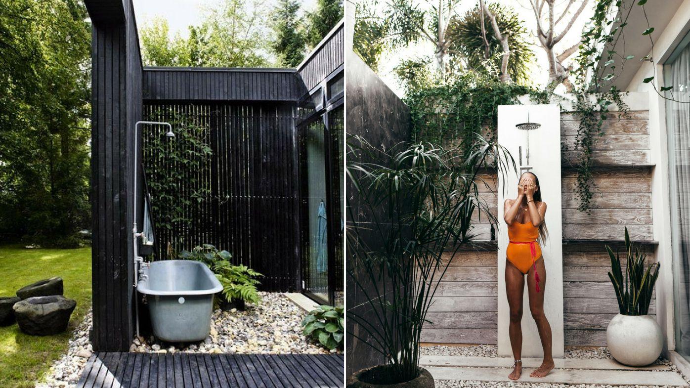 Outdoor Dusche Und Badewanne Im Garten Stilvolle Gestaltungsideen