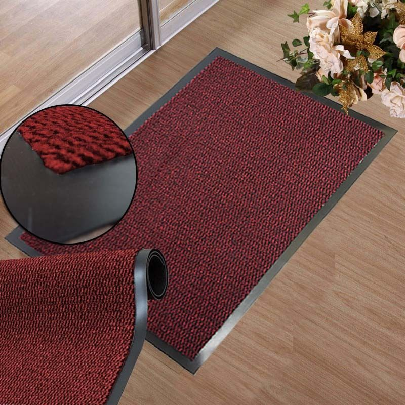 Red Large Small Non Slip Rubber Back Heavy Duty Barrier Mat Door Kitchen Rugs Rugs Kitchen Rug Entrance Door Mats