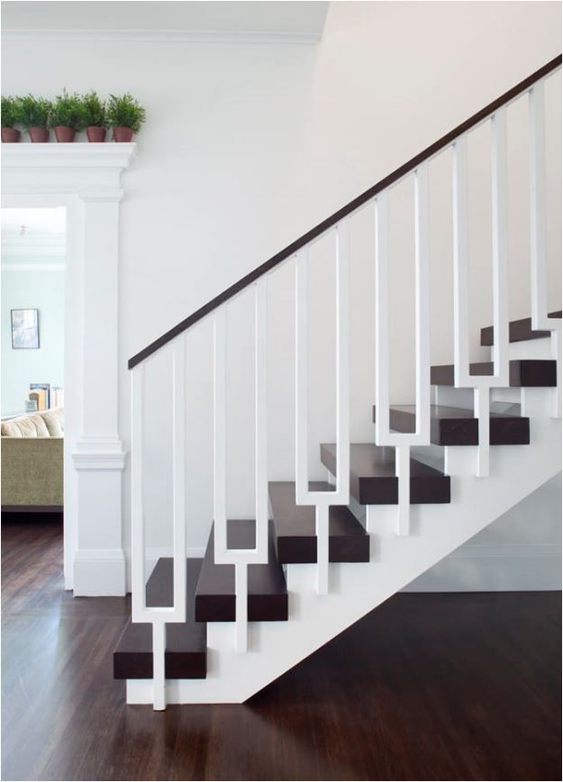 Gorgeous Simplicity. The White Railings Disappear With The White Walls.  Stunning Stair Railings |