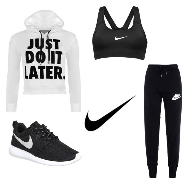 """Nike✔️"" by dancemomsforev on Polyvore featuring NIKE, WearAll, women's clothing, women, female, woman, misses and juniors"