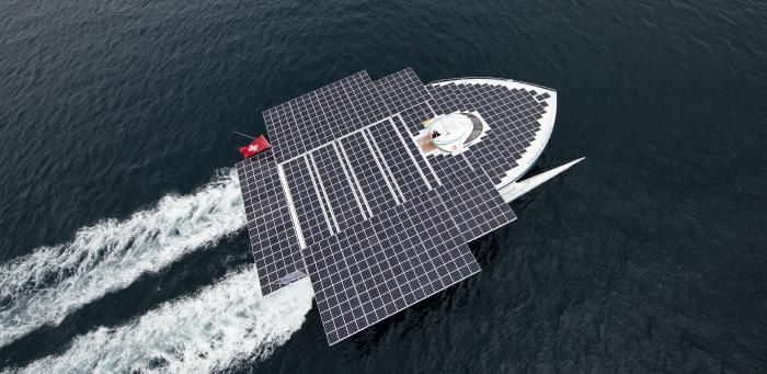 MS Tûranor PlanetSolar: As part of its mission to build stronger relationships between scientists, entrepreneurs and innovators in Massachusetts and Switzerland, swissnex Boston will welcome the PlanetSolar DeepWater Expedition to Boston's Fan Pier for PlanetSolar's inaugural visit, June 22-26. This will be the furthest north this remarkable boat has ever traveled. ~Photo Copyright Pierre le Sage~
