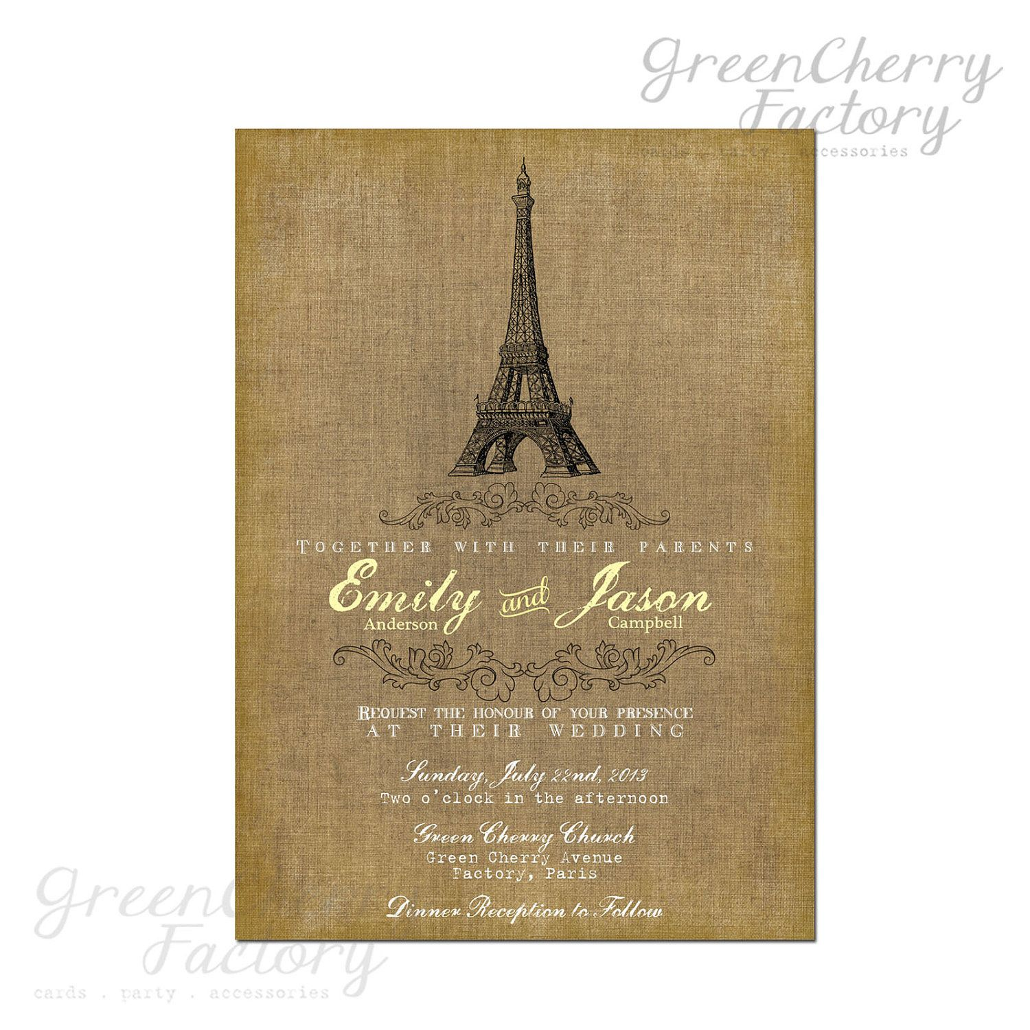 wedding invitation rsvp what does m mean%0A Vintage Paris Wedding Invitation  Vintage Canvas Background  Printable  Invitation No